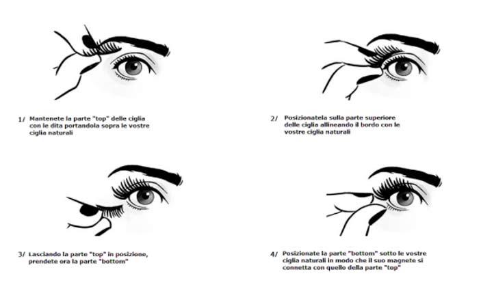 Come applicare Black Eyelashes