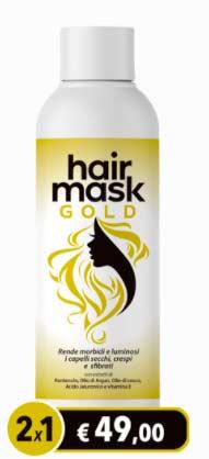 Maschera per capelli Hair Mask Gold