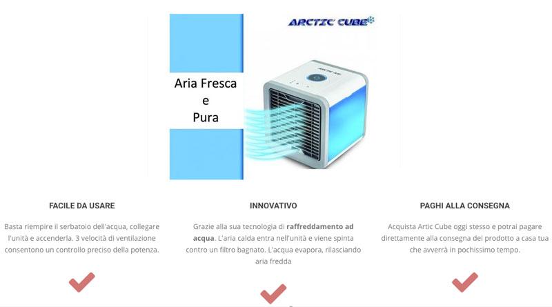 Caratteristiche di Artic Cube