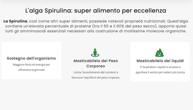Caratteristiche di Spirulina Control