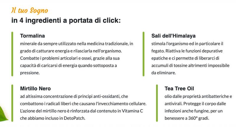 Ingredienti di Deto Patch
