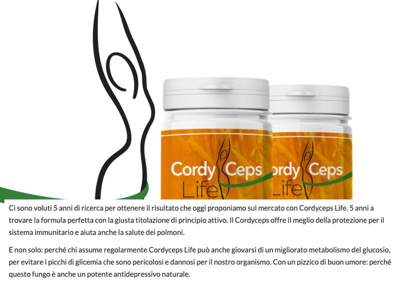 Caratteristiche di Cordyceps Life