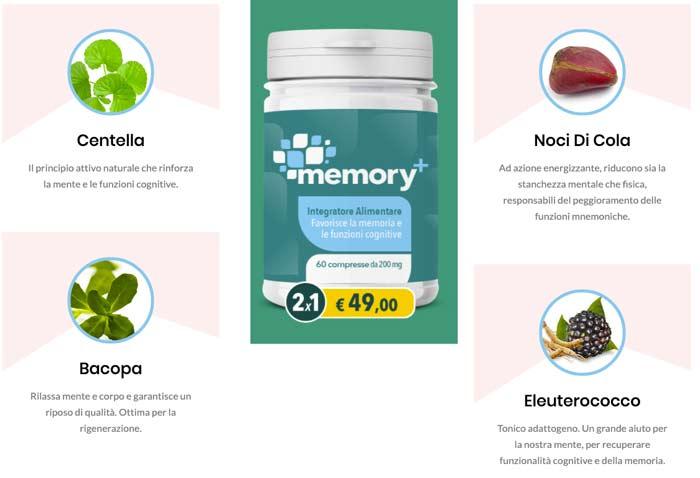 Ingredienti di Memory Plus