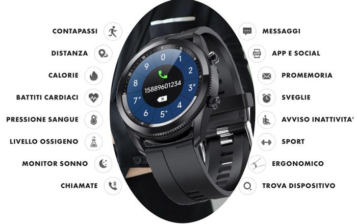 Funzioni dello smartwatch Swing Watch